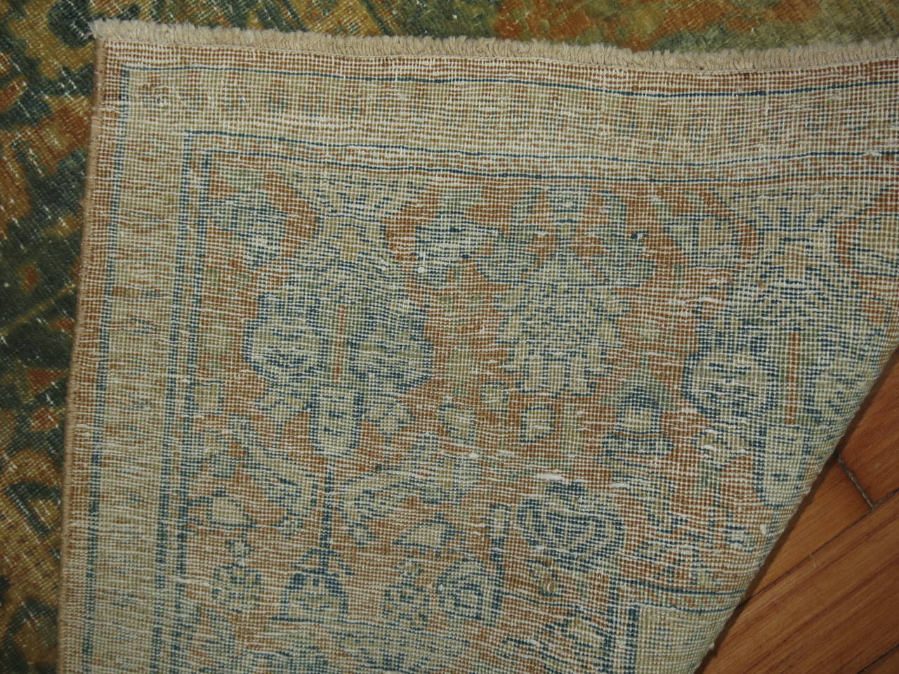 Wool Shabby Chic Antique Persian Tabriz Rug For Sale