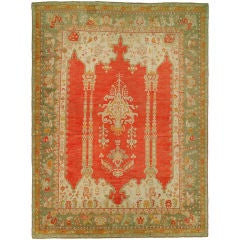 Turkish Antique Oushak Carpet