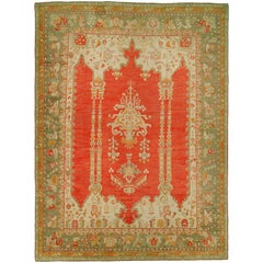 Turkish Antique Oushak Carpet