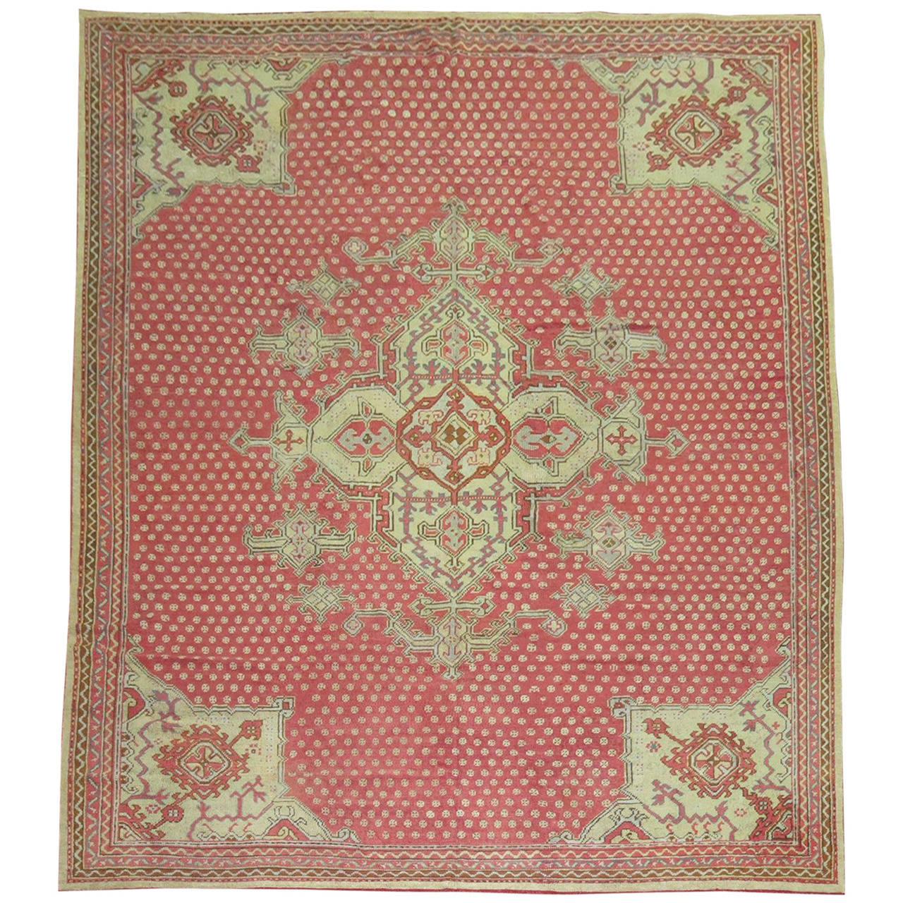Antique Vintage Turkish Rugs: Antique Turkish Oushak Rug For Sale At 1stdibs