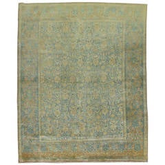 Shabby Chic Antique Persian Tabriz Rug