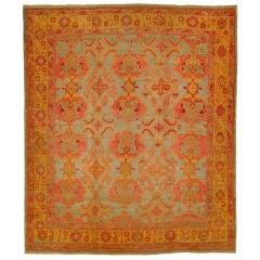 Colorful Antique Turkish Oushak Rug