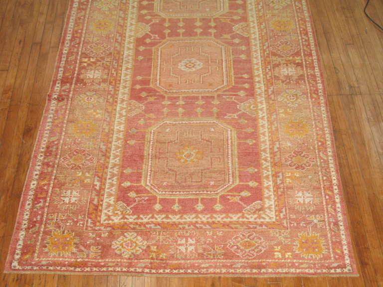 yellow area rug antique turkish sivas gallery rug at 1stdibs 29634