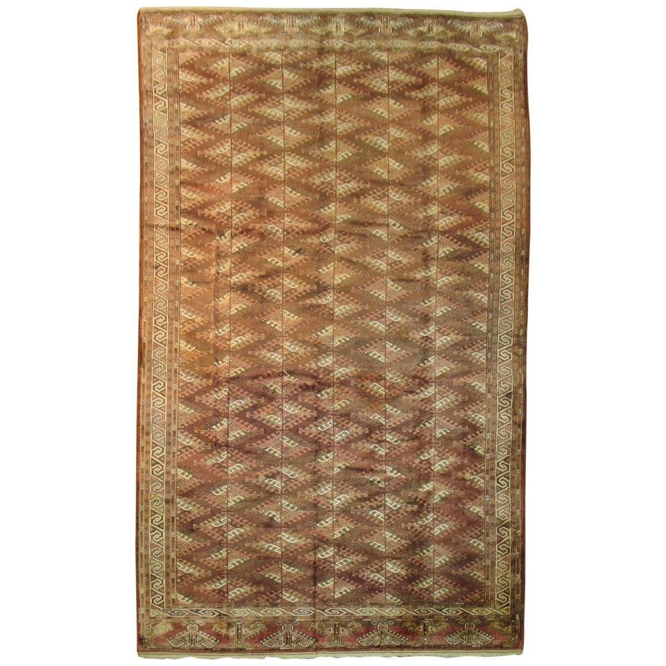 Vintage Turkoman Turkmen Carpet For Sale