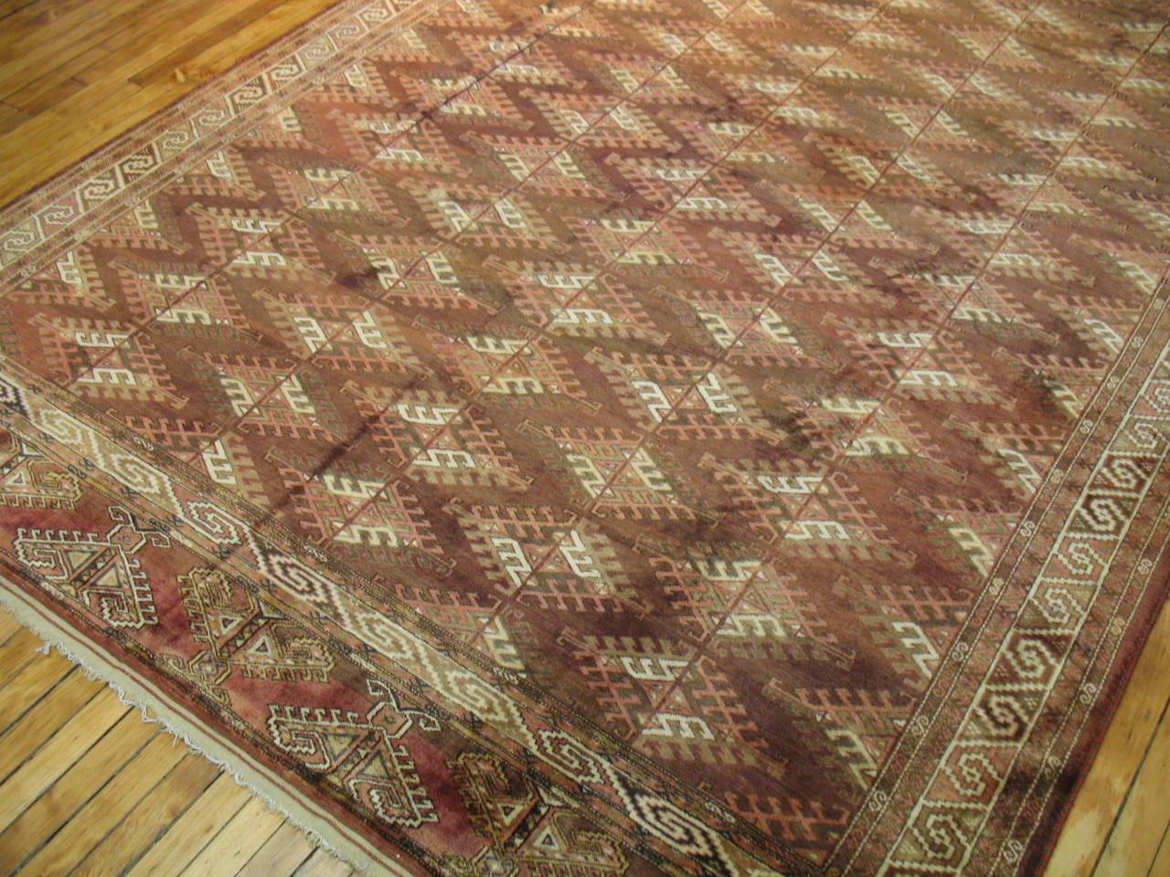 Adirondack Vintage Turkoman Turkmen Carpet For Sale