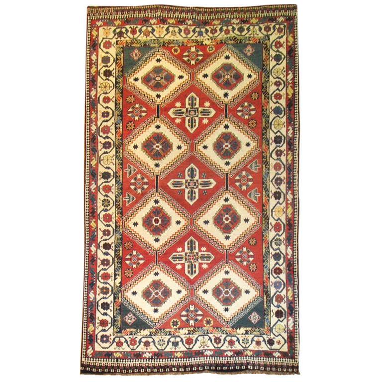 Tribal Antique Ghashgai Pile Rug