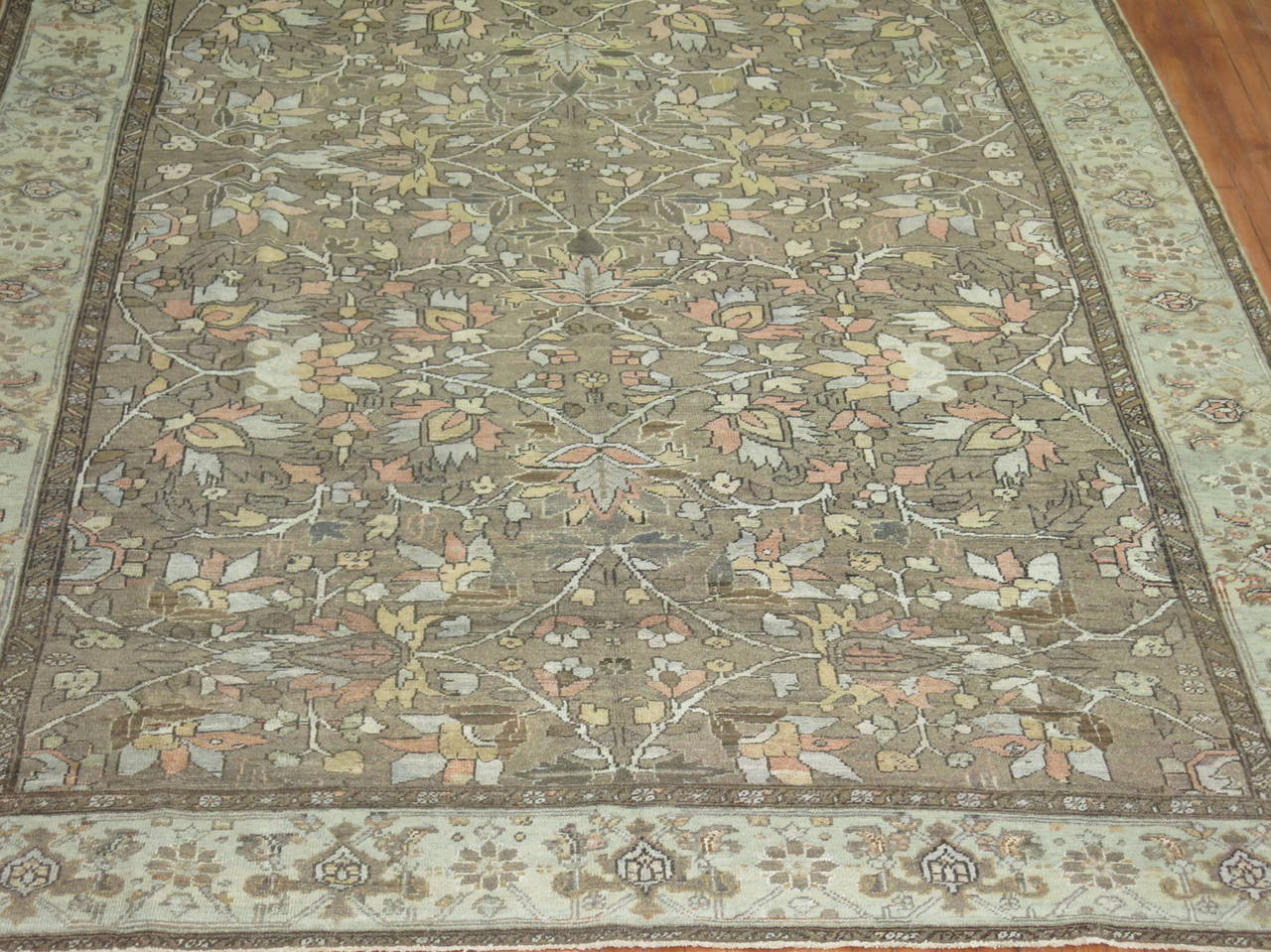 Hand-Knotted All-Over Antique Persian Heriz Carpet, circa 1920 For Sale