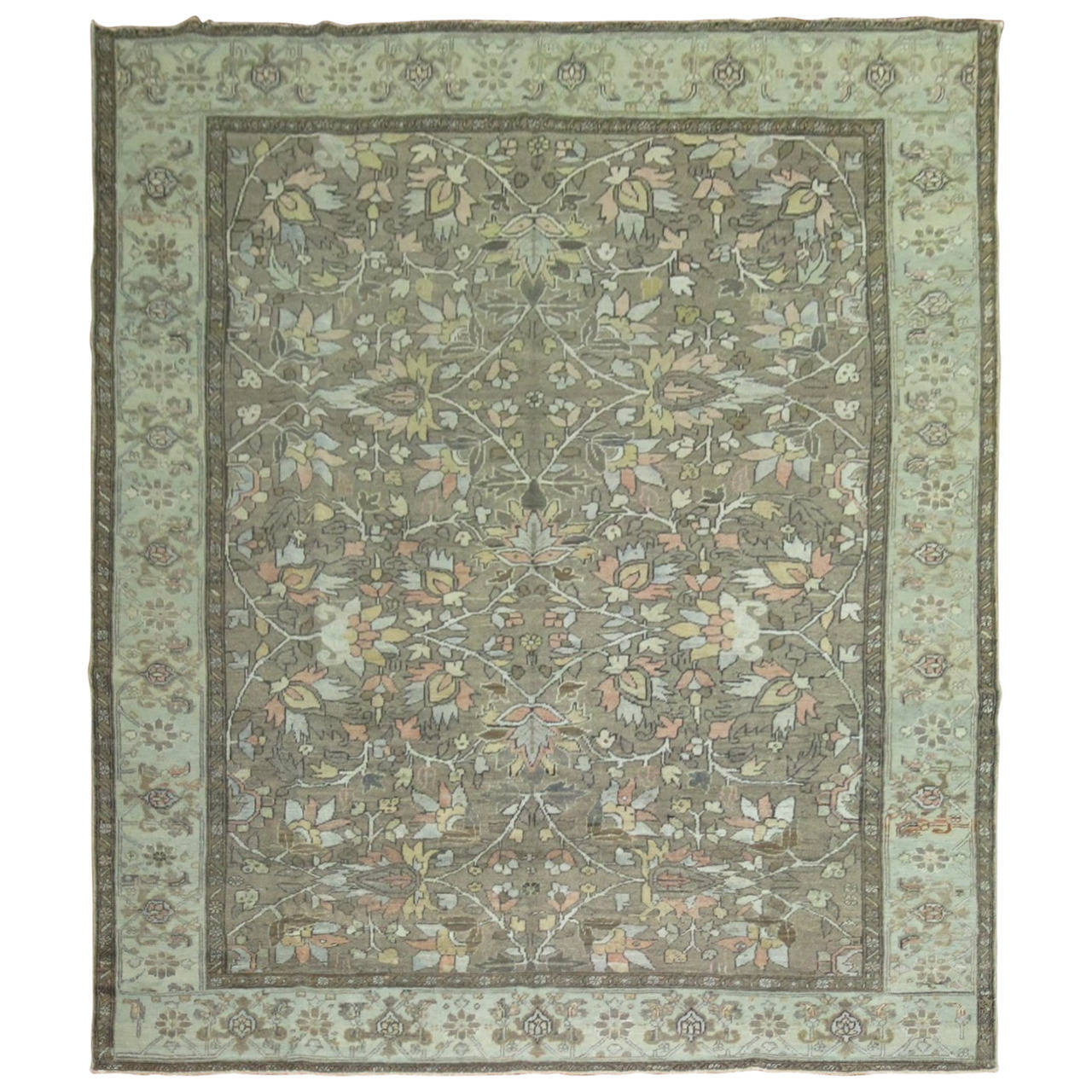 All-Over Antique Persian Heriz Carpet, circa 1920 For Sale