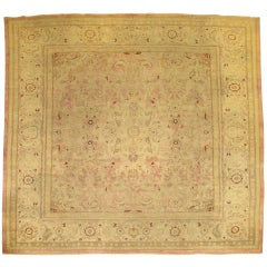 Antique Indian Amritsar Square Rug