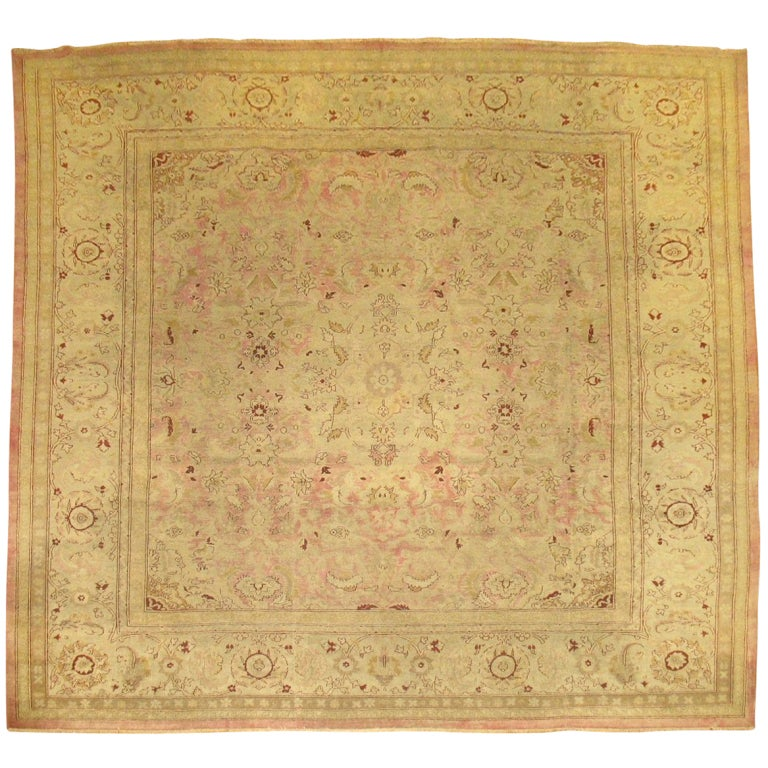 Antique Indian Amritsar Square Rug For Sale At 1stdibs