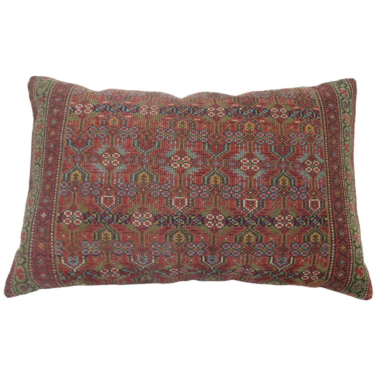 Zippered Floor Pillows : Persian Serab Lumbar Floor Pillow at 1stdibs
