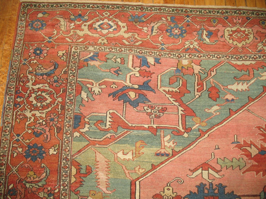 Antique Persian Serapi Rug 1