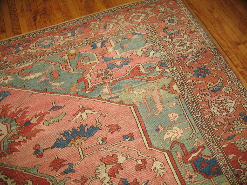 Antique Persian Serapi Rug 4