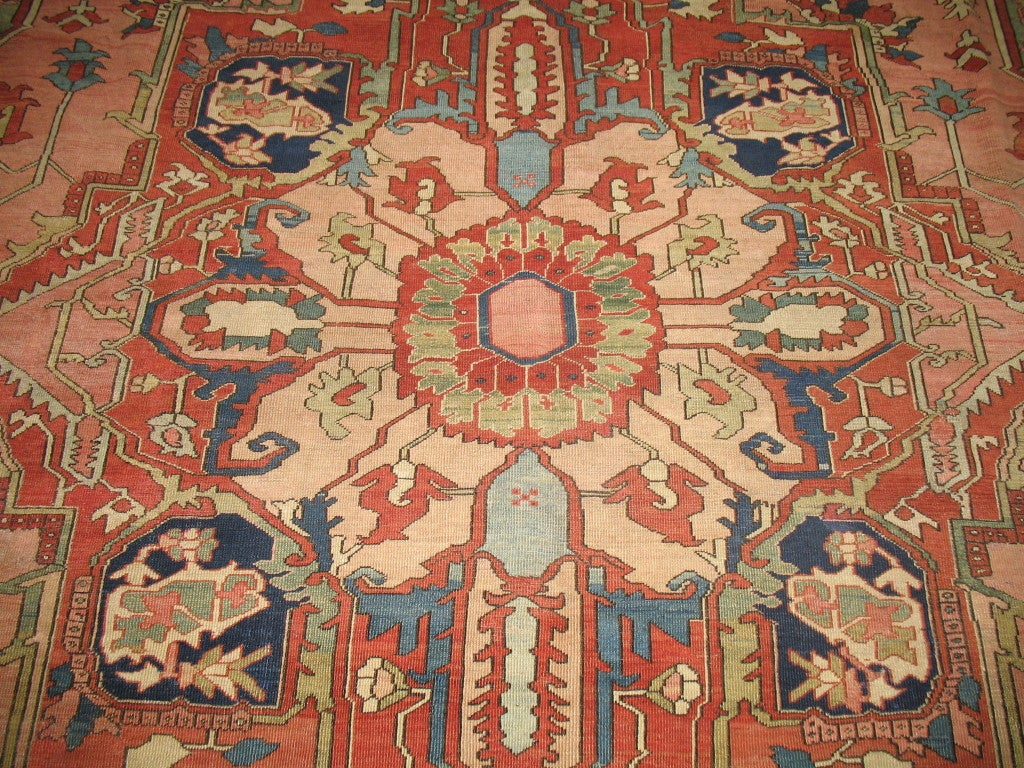 Antique Persian Serapi Rug 2