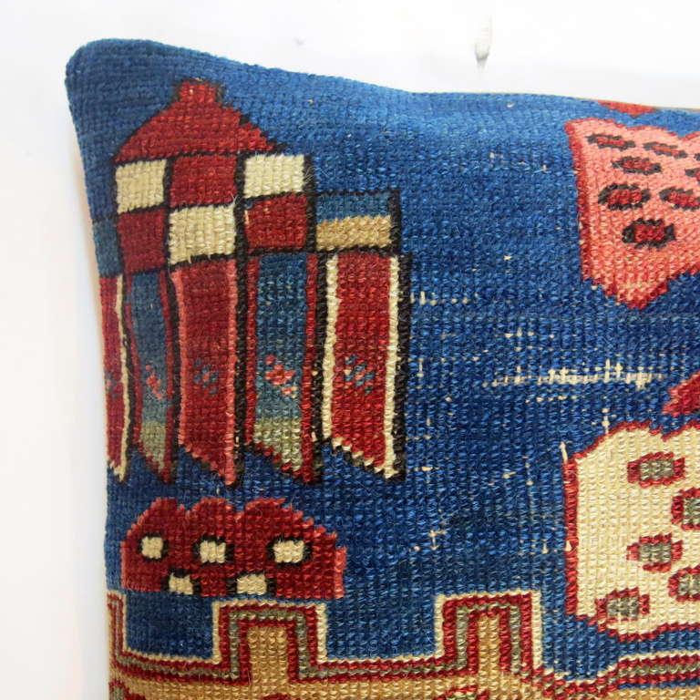 Antique Persian Serapi Rug Pillow At 1stdibs