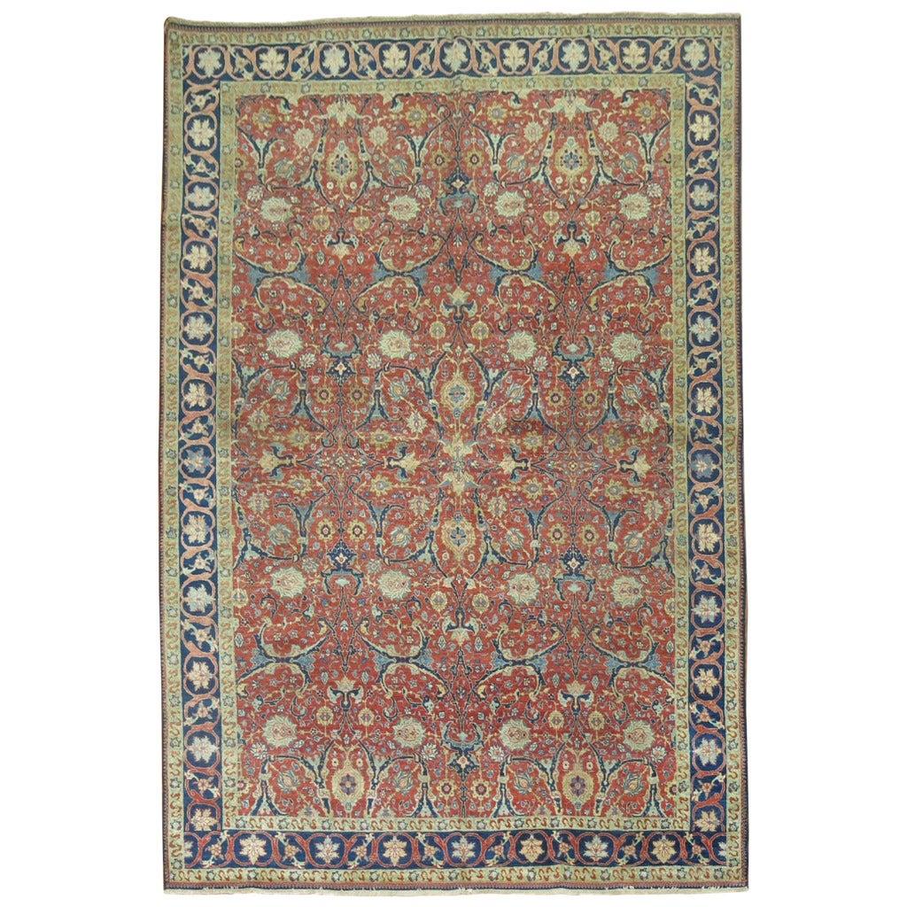19th Century Antique Persian Tabriz For Sale