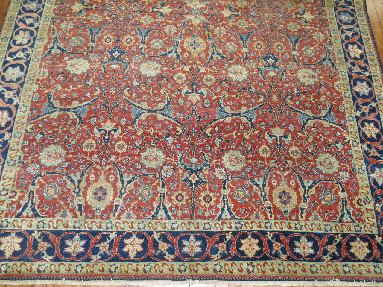 19th Century Antique Persian Tabriz For Sale 3