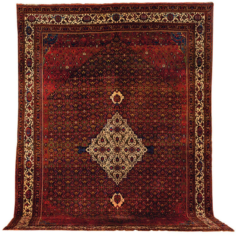Persian Rugs For Sale: Antique Persian Bidjar Rug For Sale At 1stdibs