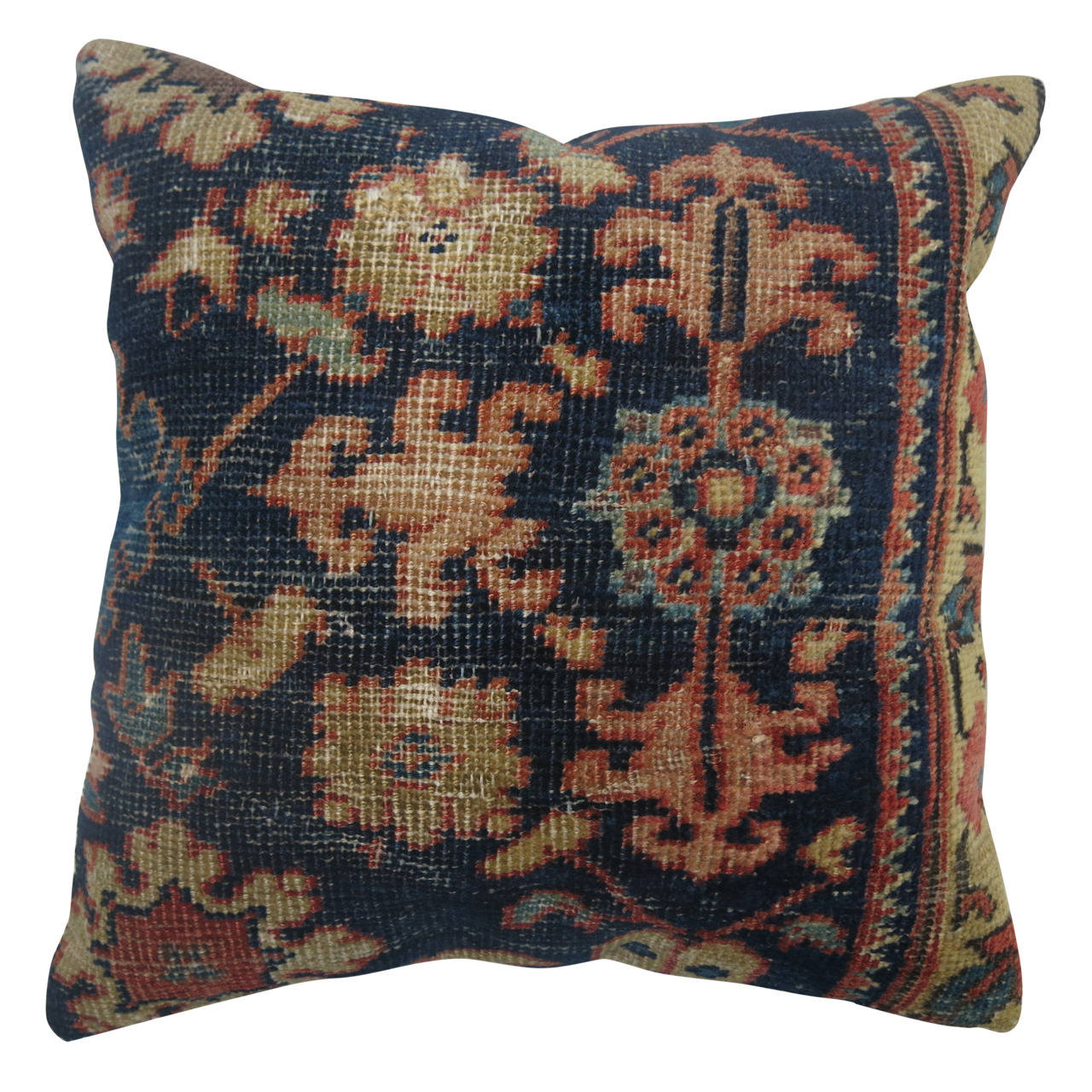 Blue Persian Mahal Pillow At 1stdibs