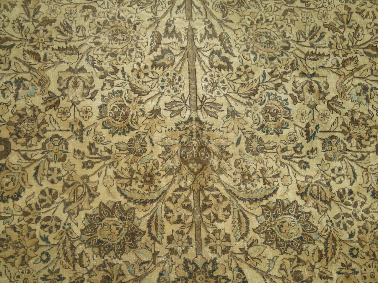Antique Tabriz Pictorial Element Rug For Sale At 1stdibs