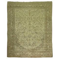 Antique Tabriz Pictorial Element Rug