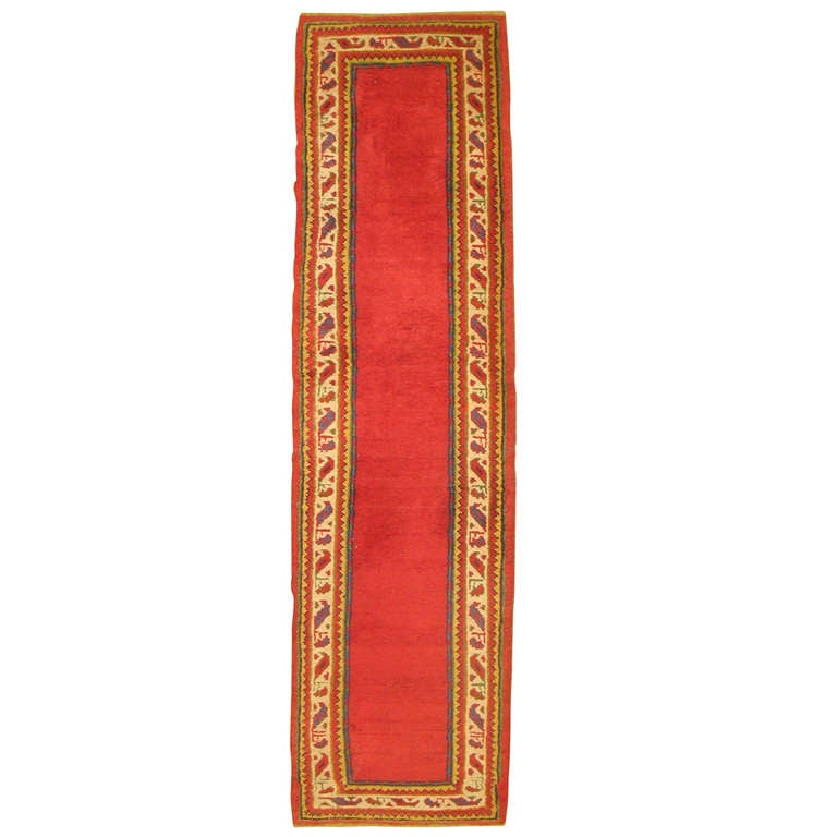 Narrow Turkish Oushak Runner