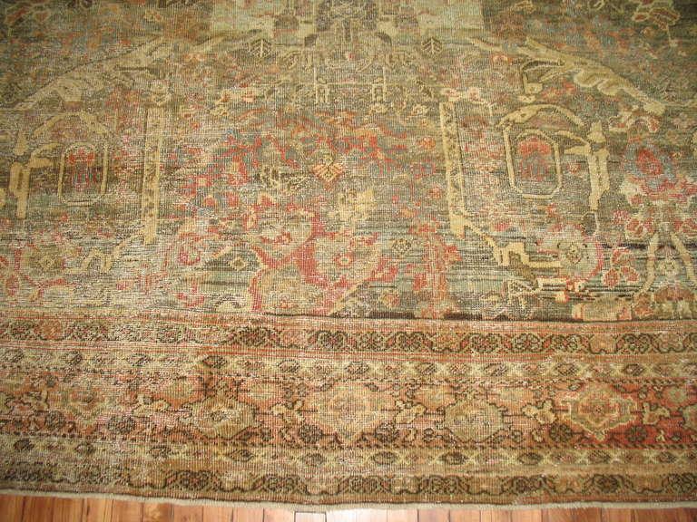 Antique Distressed Persian Mahal Rug At 1stdibs