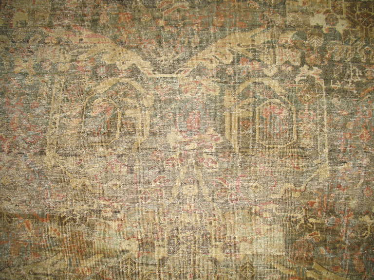 Antique Distressed Persian Mahal Rug At 1stdibs
