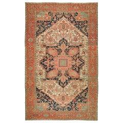 Antique Persian Heriz Serapi Rug