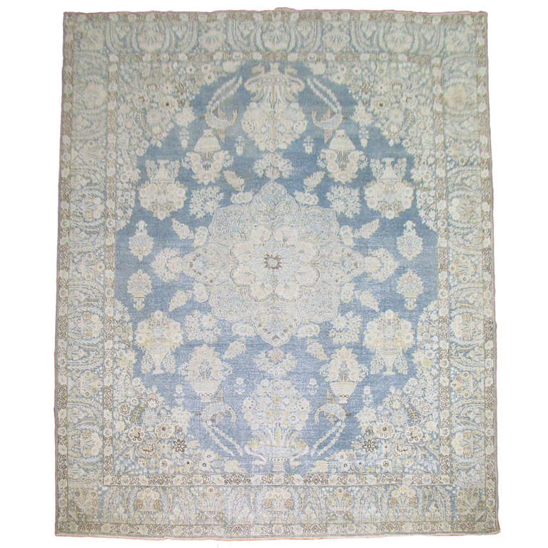 Light Blue Antique Persian Rug At 1stdibs