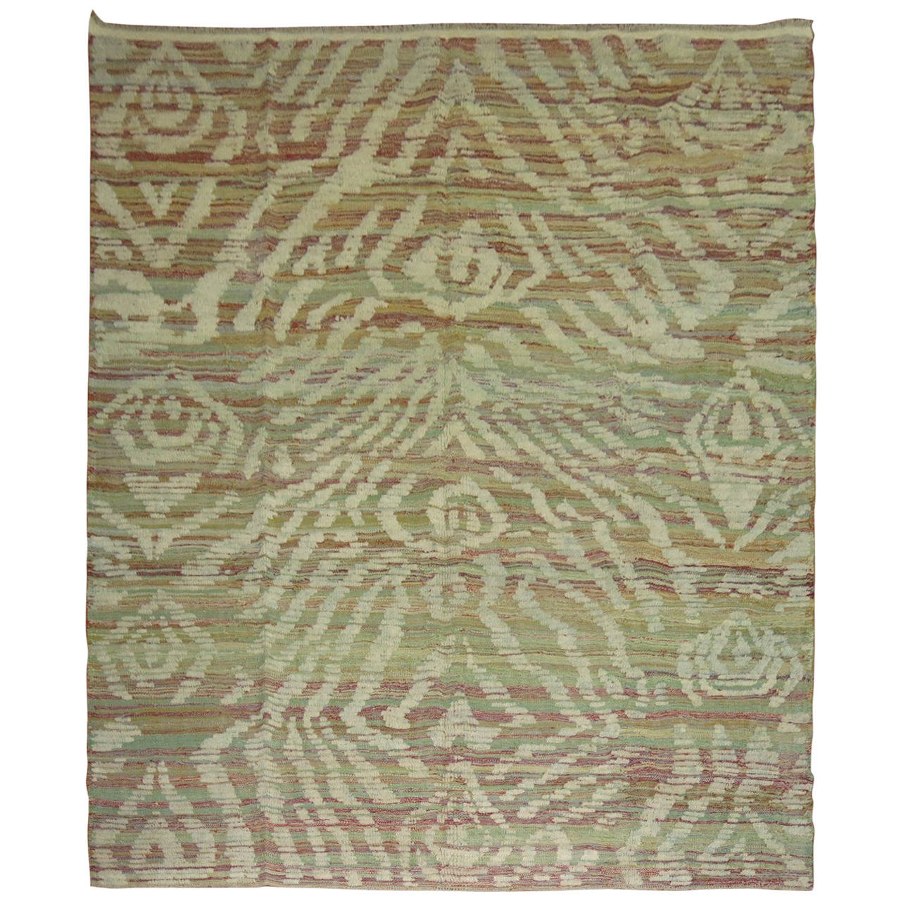 Turkish Inspired Flat-Weave Carpet For Sale