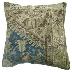 Light Blue Persian Malayer Rug Pillow