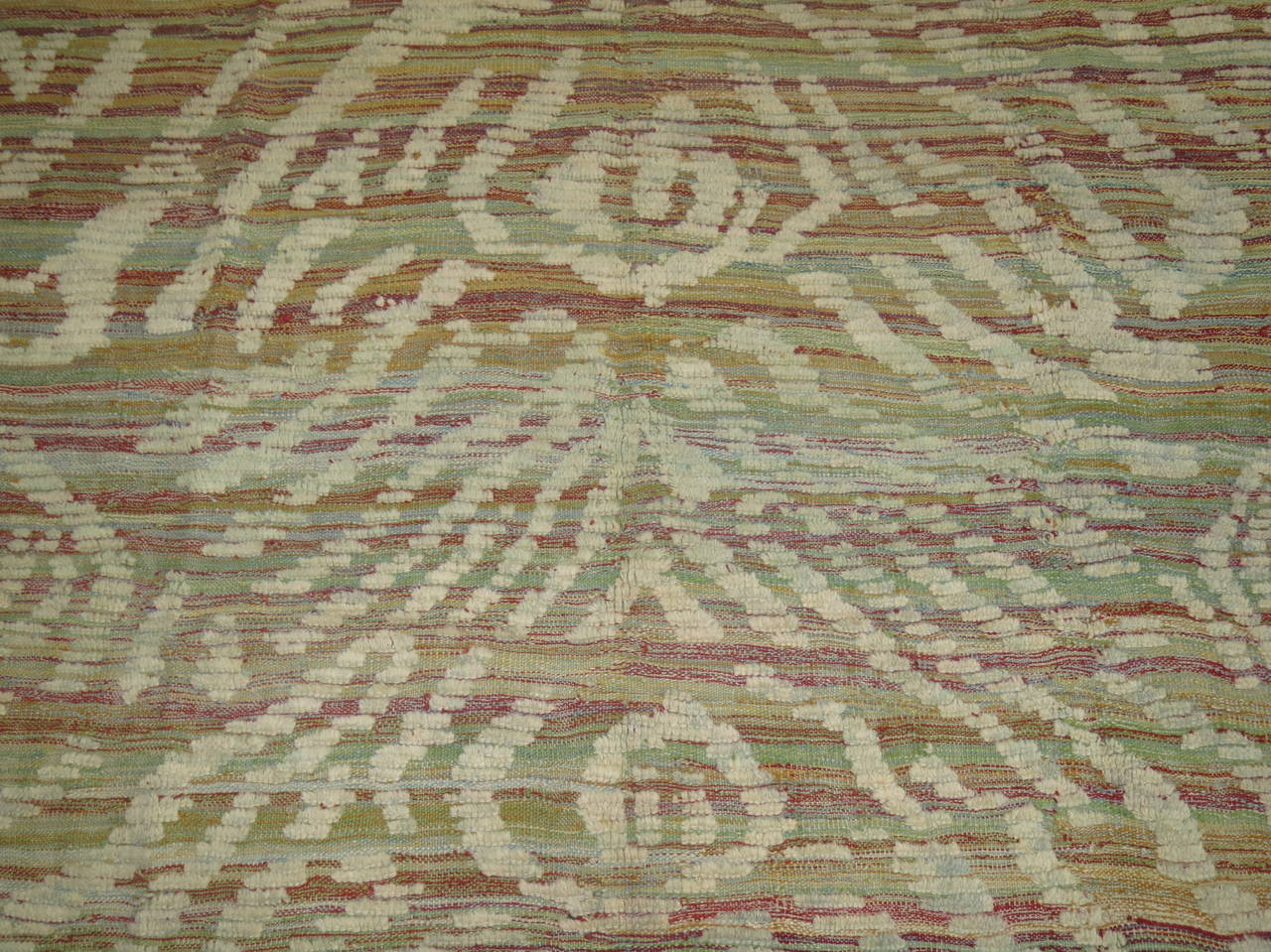 Turkish Inspired Flat-Weave Carpet For Sale 1
