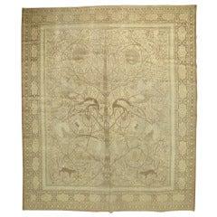 Antique Persian Tabriz Pictorial