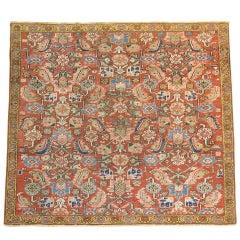Antique Persian Heriz Square Rug