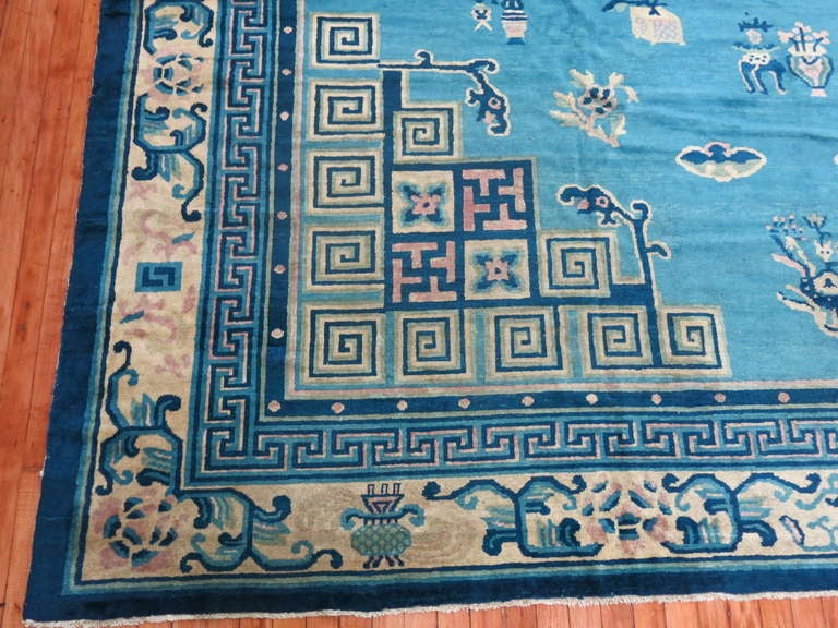 Antique Chinese Peking Rug At 1stdibs