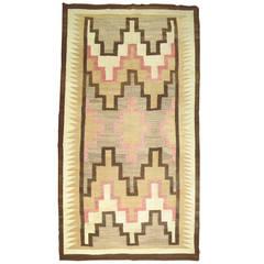 Antique Navajo Yei Rug Oriental Rug Handmade Wool Rug