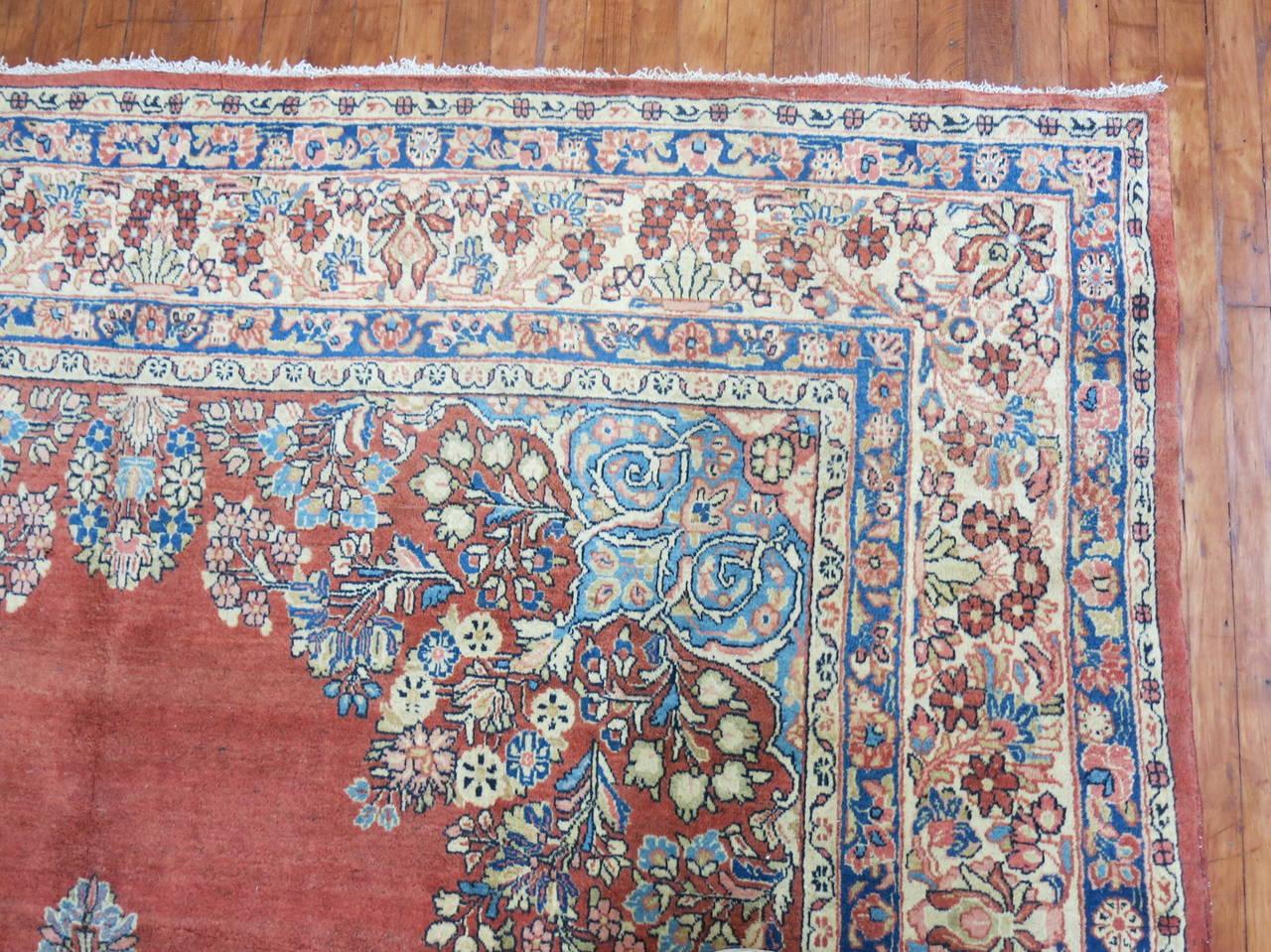 Classic Persian Sarouk Rug For Sale At 1stdibs