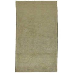 Pale Vintage Turkish Oushak Carpet