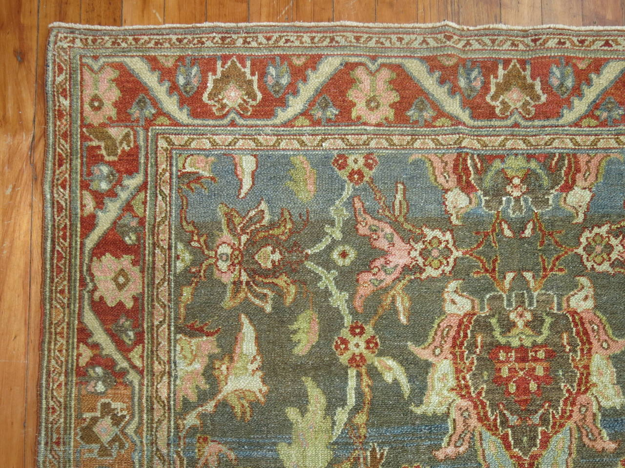 Antique Persian Malayer Rug 6
