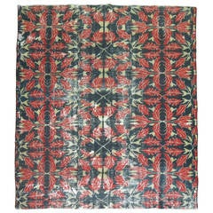 Vintage Turkish Weathered Rug