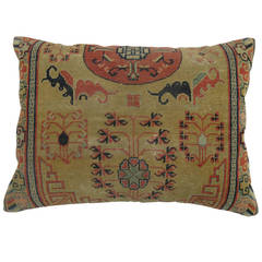 Antique Khotan Rug Pillow