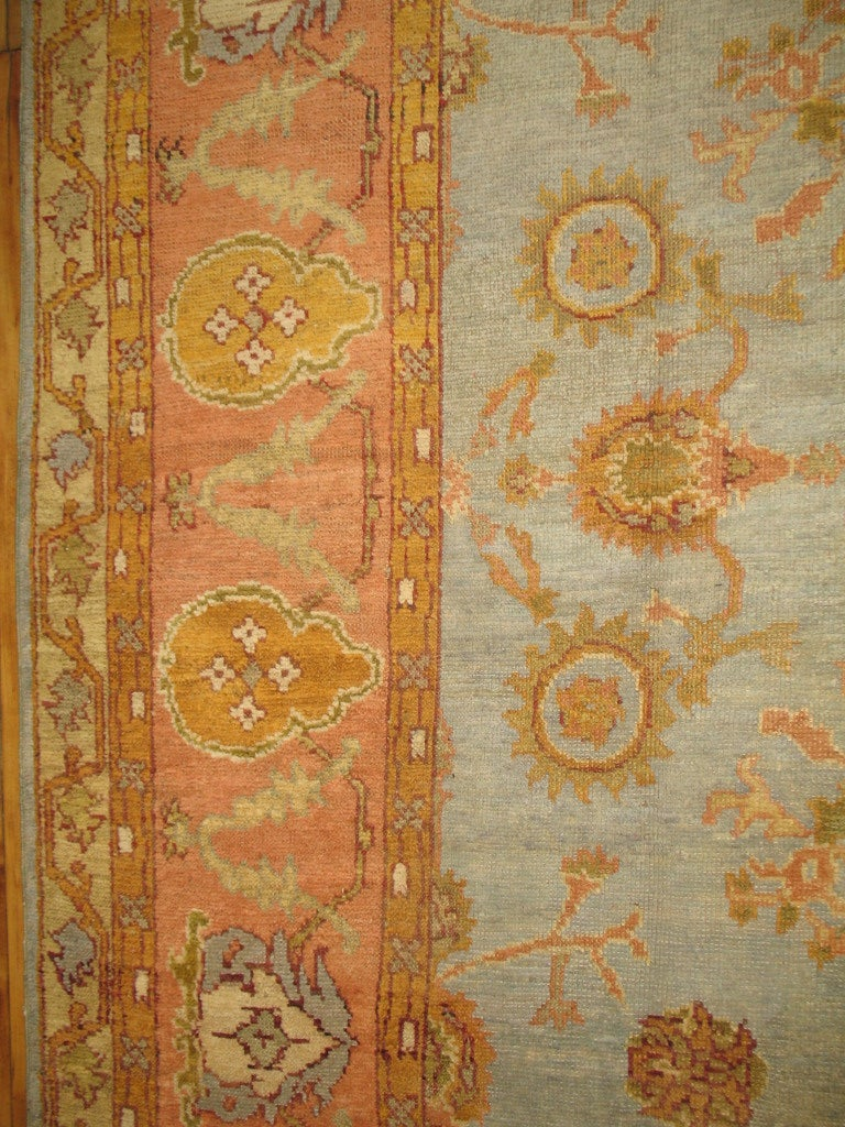 Antique Turkish Oushak Rug At 1stdibs