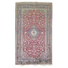 Antique Persian Silk Area Rug