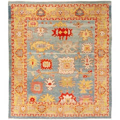 Turkish Old Wool Oushak Rug