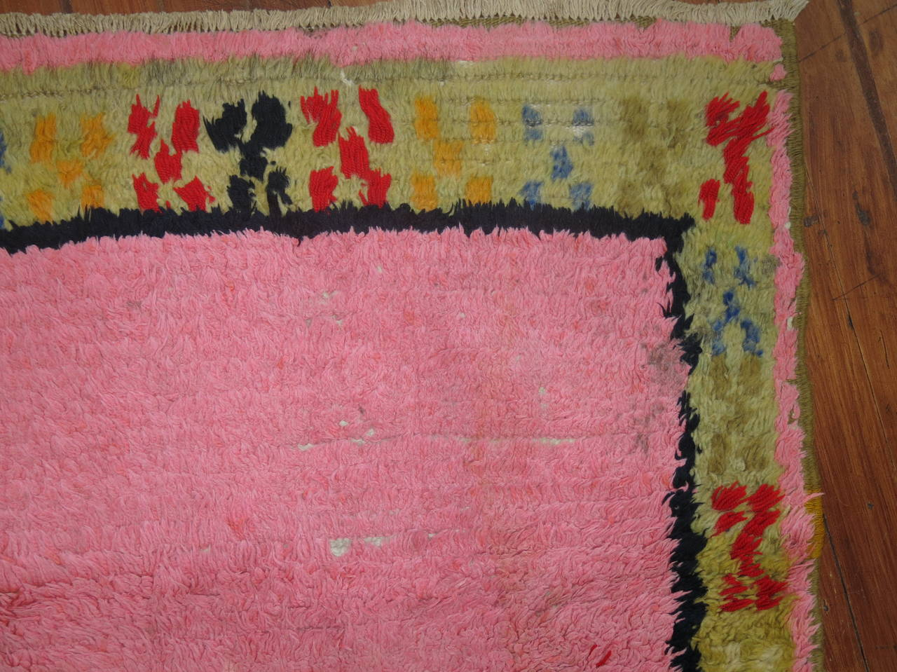 Hand-Knotted Vintage Turkish Tulu Shag Runner For Sale