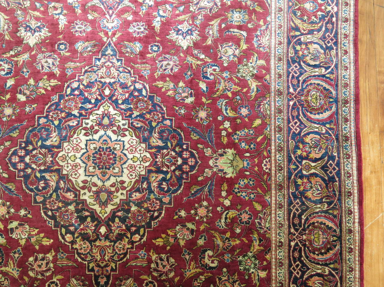 Hand-Woven Antique Persian Silk Area Rug For Sale