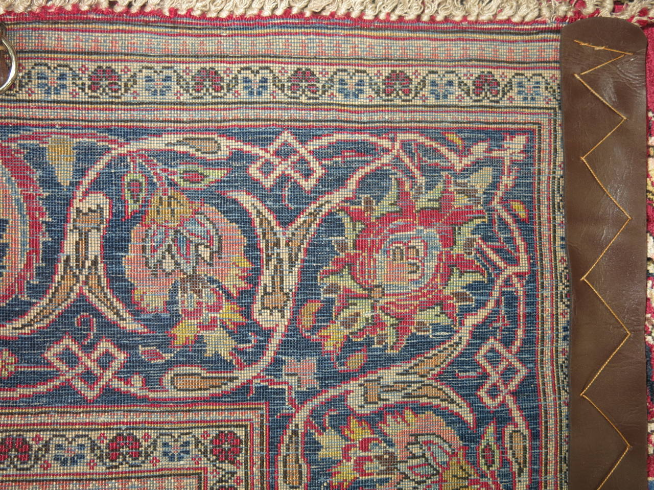 Antique Persian Silk Area Rug For Sale 2