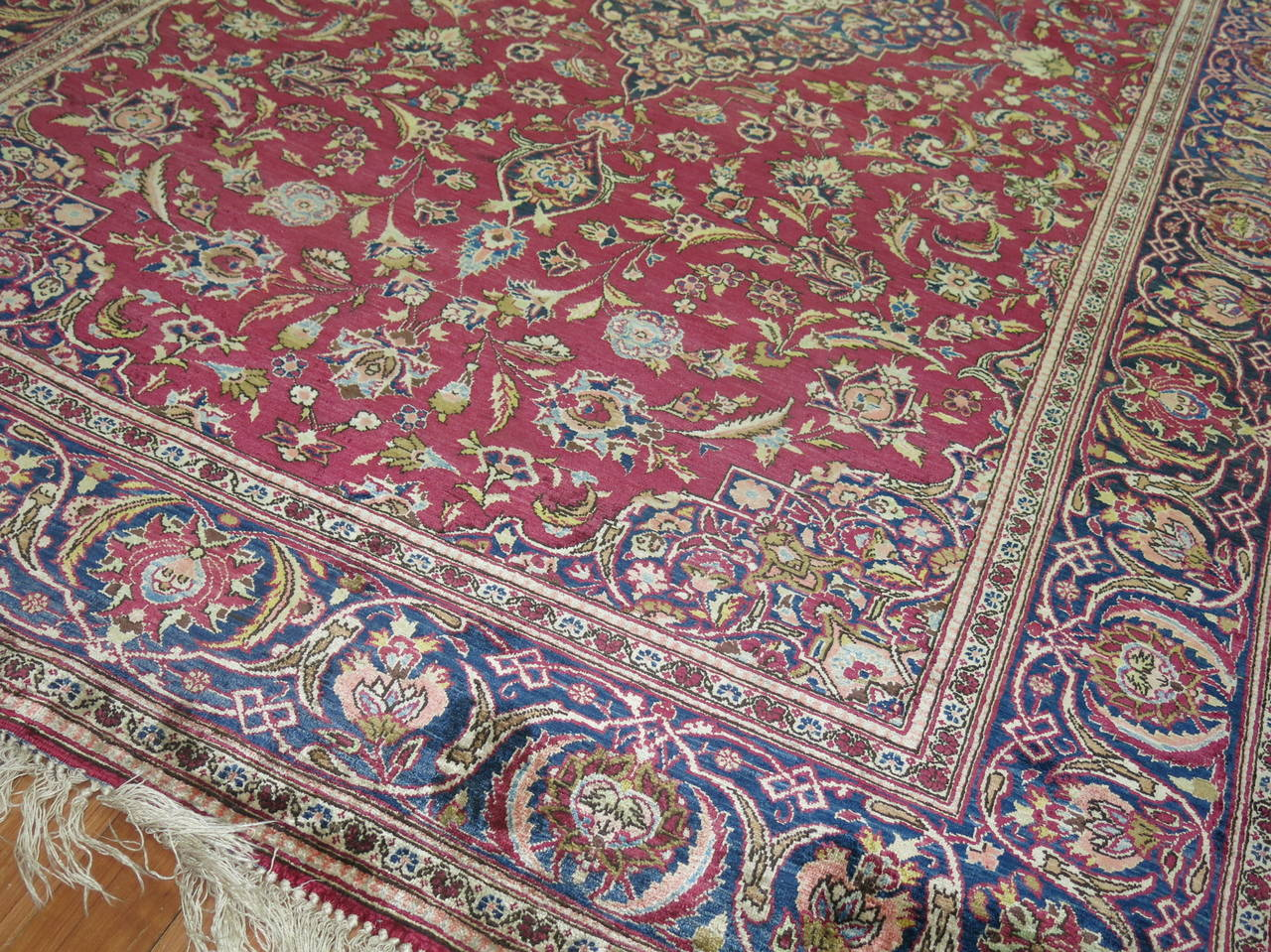 Antique Persian Silk Area Rug For Sale 3