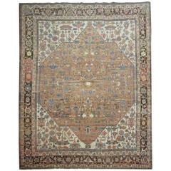 One of a Kind Antique Persian Heriz Serapi Rug